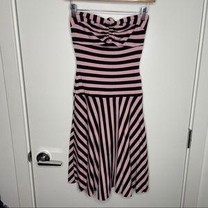 🎁4/20$🎁 vintage garage striped strapless dress